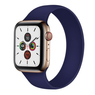 OEM Apple Watch New Style Solo Blue Silicone Strap (size S - fits all 42/44 series)