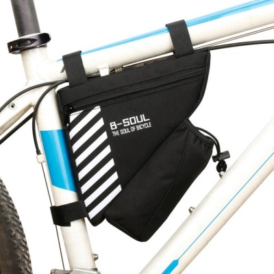 B-SOUL Bicycle Bags With Water Bottle Triangle Pouch Solid - Black
