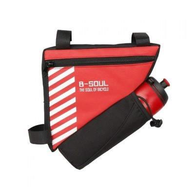 B-SOUL Bicycle Bags With Water Bottle Triangle Pouch Solid - Red