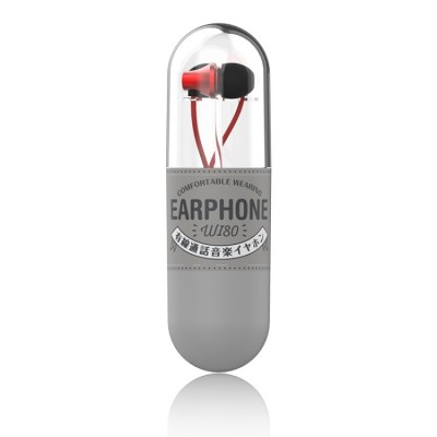 WK WI80 3.5mm In Ear Wired Control Music Earphone - Red