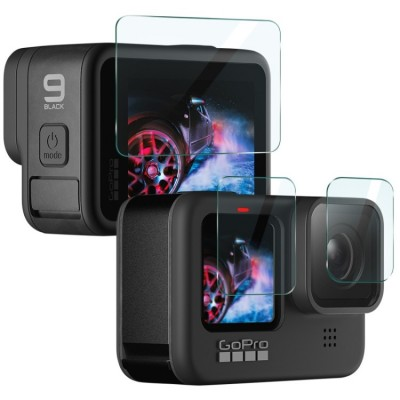 IMAK 3 in 1 Camera Lens and Screen Tempered Glass For GoPro HERO 9/10