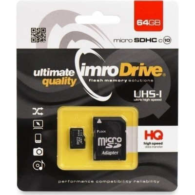 ΚΑΡΤΑ ΜΝΗΜΗΣ IMRO MICROSDHC 64GB CL.10 WITH ADAPTER