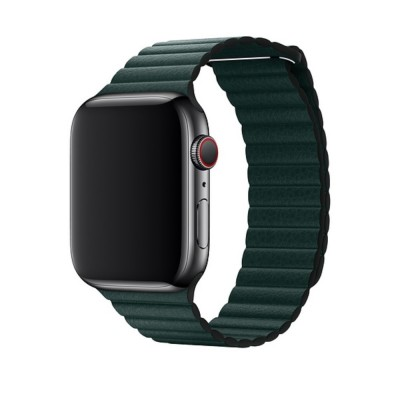 LEATHER LOOP APPLE WATCH SERIES 42MM / 44 MM MAGNETIC CLOSURE – GREEN