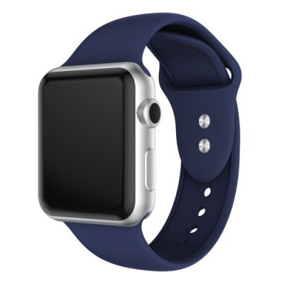 TECH-PROTECT SMOOTHBAND FOR APPLE WATCH (42/44MM) – DARK BLUE