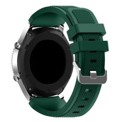 Ανταλλακτικό λουράκι QuickFit Softband Samsung Galaxy Watch (46mm)/ Gear S3 Classic R770 / Gear S3 Frontier R760 - GREEN