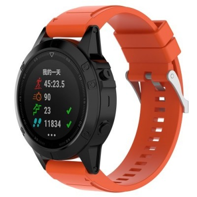 SENSO REPLACEMENT BAND FOR GARMIN FENIX 6X/6X Pro/5X / 5X PLUS / 3 / 3 HR - ORANGE