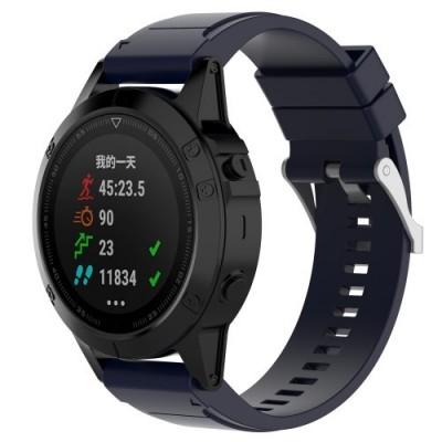 SENSO REPLACEMENT BAND FOR GARMIN FENIX 6X/6X Pro/5X / 5X PLUS / 3 / 3 HR - DARK BLUE