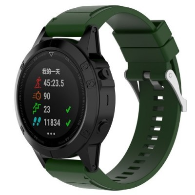 SENSO REPLACEMENT BAND FOR GARMIN FENIX 6X/6X Pro/5X / 5X PLUS / 3 / 3 HR - ARMY GREEN