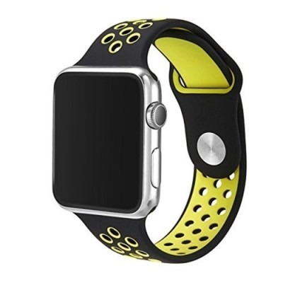 TECH-PROTECT SOFTBAND FOR APPLE WATCH (42/44MM) – BLACK/LIME