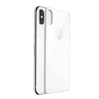 ΤΖΑΜΙ ΠΛΑΤΗΣ BASEUS 4D ARC EDGES FULL COVERAGE TEMPERED GLASS ΓΙΑ IPHONE X/XS – WHITE