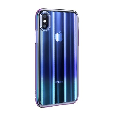 ΘΗΚΗ BASEUS AURORA SERIES ΓΙΑ IPHONE X/XS 5.8-INCH – TRANSPARENT BLUE