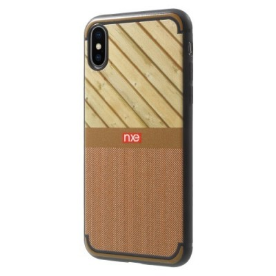 ΘΗΚΗ NXE WOOD AND JEANS TEXTURE TPU ΓΙΑ IPHONE X/XS – BROWN OEM