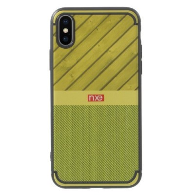 ΘΗΚΗ NXE WOOD AND JEANS TEXTURE TPU ΓΙΑ IPHONE X/XS – GREEN OEM