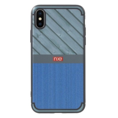 ΘΗΚΗ NXE WOOD AND JEANS TEXTURE TPU ΓΙΑ IPHONE X/XS – BLUE OEM