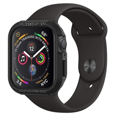 SPIGEN RUGGED ARMOR APPLE WATCH SERIES 4/5 (40MM) CASE – BLACK (061CS24480)