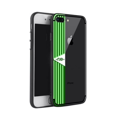 ΘΗΚΗ NXE STRIPE PATTERN PAINTING PC + TPU COMBO BACK ΓΙΑ IPHONE 7/8 PLUS GREEN OEM
