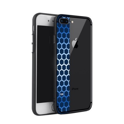 ΘΗΚΗ NXE BEE BUTTERFLY SERIES HONEYCOMB TPU + PC HYBRID ΓΙΑ IPHONE 7/8 PLUS BLUE OEM