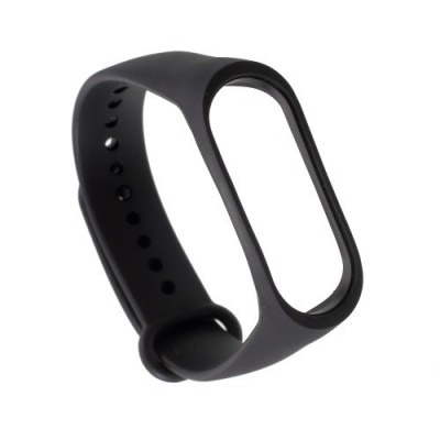 TPU WRISTBAND BRACELET REPLACEMENT FOR XIAOMI MI BAND 3/MI BAND 4 – BLACK