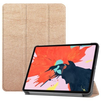 ΘΗΚΗ TRI-FOLD STAND SMART PU LEATHER PROTECTION CASE FOR IPAD PRO 12.9-INCH (2018) – GOLD