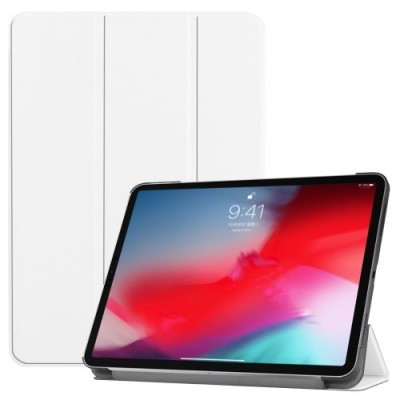 ΘΗΚΗ PU LEATHER TRI-FOLD STAND SMART COVER FOR IPAD PRO 11-INCH (2018) – WHITE