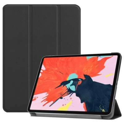 ΘΗΚΗ PU LEATHER TRI-FOLD STAND SMART CASE FOR IPAD PRO 11-INCH (2018) – BLACK