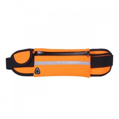 Ultimate Running Belt with bottle holder and headphone outlet - Orange