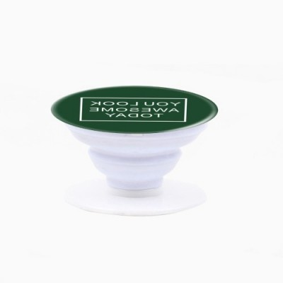 Pop Socket -  Green with Words