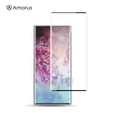 AMORUS 3D Full Coverage Curved Tempered Glass Screen Protector (Fingerprint Unlock) for Samsung Galaxy Note 10