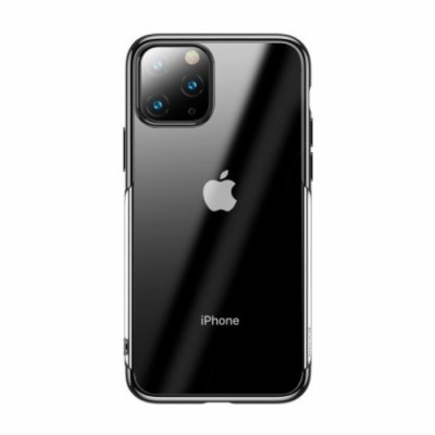 BASEUS Shining Series Plated TPU Case for iPhone 11 Pro Max  (2019) - Black (ARAPIPH65S-MD01)