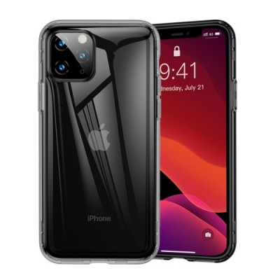 BASEUS Drop-resistant TPU Phone Case Cover for iPhone 11 Pro Max (2019) - Transparent Black  (ARAPIPH65S-SF01)