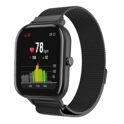 Stainless Steel Milanese Bracelet Band for Amazfit GTS - Black OEM