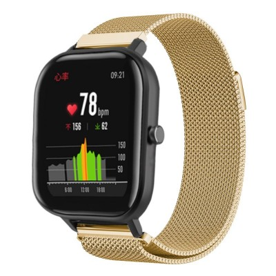 Stainless Steel Milanese Bracelet Band for Amazfit GTS - Gold OEM