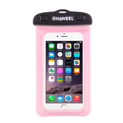 "HAWEEL HWL-7002 Universal Waterproof Bag Case έως 6,5""- Pink"