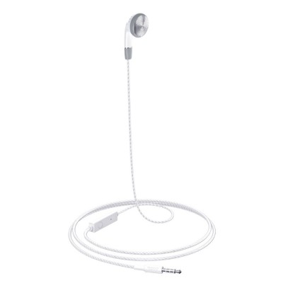 HOCO M61 Single Ear 3.5mm Wired Earphone with Mic 1.2m - White