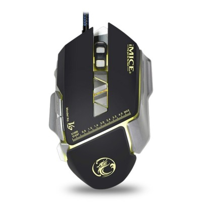 iMICE V9 7 Buttons 4000 DPI Backlight Gaming Mouse - Black