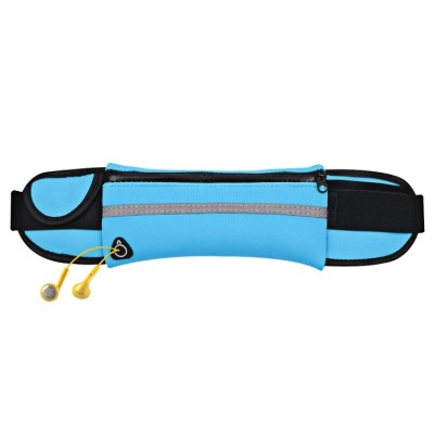 Ultimate Running Belt with bottle holder and headphone outlet - Blue
