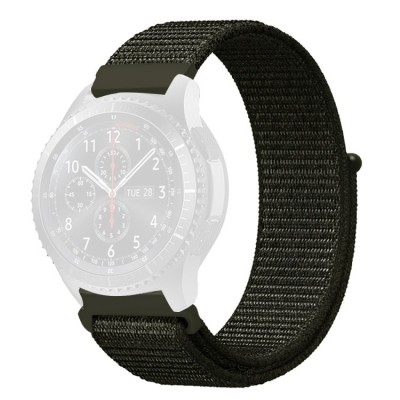 Λουράκι Simple Nylon Braided 22mm για Huawei Watch GT/GT2 & Galaxy Watch 46mm - Army Green