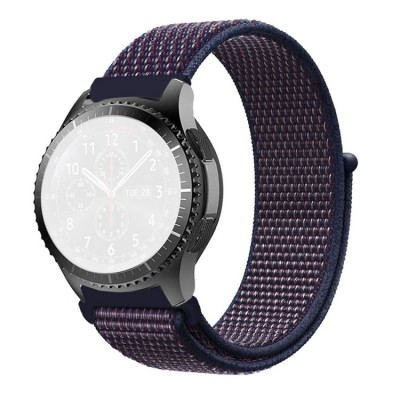 Λουράκι Simple Nylon Braided 22mm για Huawei Watch GT/GT2 & Galaxy Watch 46mm - Indigo