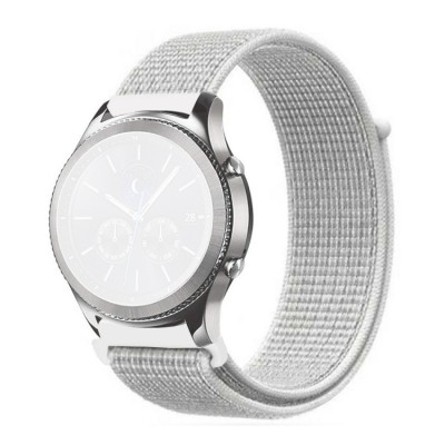 Λουράκι Simple Nylon Braided 22mm για Huawei Watch GT/GT2 & Galaxy Watch 46mm - Summit White