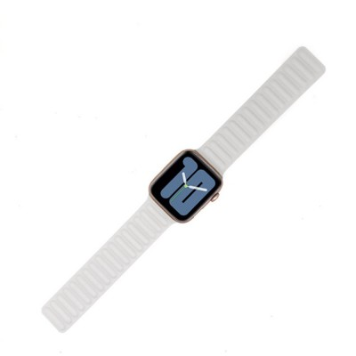 Genuine Leather Magnetic Watch Strap for Apple Watch 44mm/42mm - White