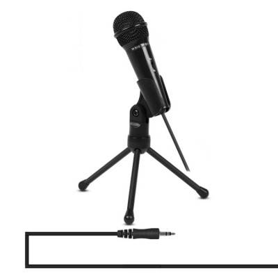 Yanmai SF-910 Professional Condenser Sound Recording Microphone with Tripod Holder 2m - Black