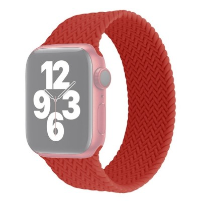Λουράκι Single Turn Woven Silicone για Apple Watch Series 6/5/4/SE 44mm - Red Large