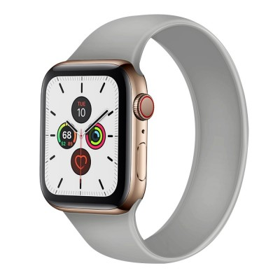 OEM Apple Watch New Style Solo Grey Silicone Strap (size L- fits all 42/44 series)