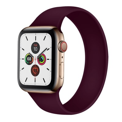 OEM Apple Watch New Style Solo Purple Silicone Strap (size M- fits all 42/44 series)
